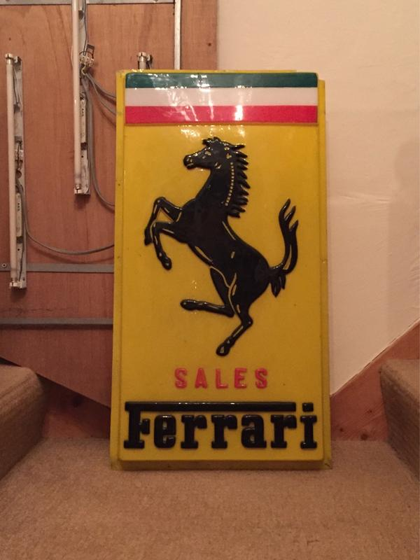 Genuine Ferrari Dealer Sign